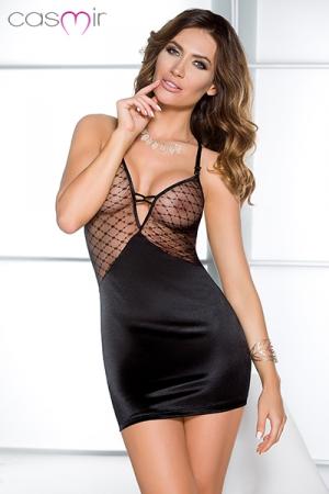 Robe Dallas : Une robe lingerie sexy et séduisante avec son haut en résille transparente qui expose la poitrine.